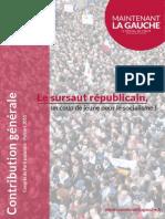 Contribution générale de Maintenant La Gauche au Congrès de Poitiers