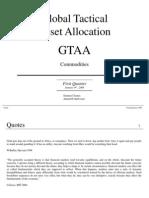 First Quarter 2010 GTAA Commodities