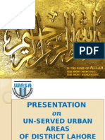 Presentation on Unserved Urban Areas of Lahore Final