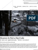 Heaven is Not a Zip Code _ on Being