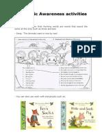 Examples of Phonemic Awareness Activities