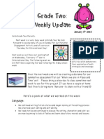 grade two weekly update february 5th