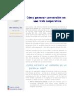 Como Generar Conversión en Una Web Corporativa