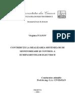 Contributia la realizarea echipamentelor de control a sistemelor electrice