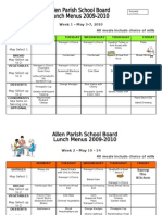 2009-10 may menus