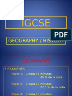 IGCSE History and Geography 2015