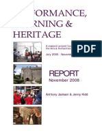 Performance, Learning & Heritage - Report