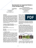 A Review on 3D Reconstruction for Augmented Reality in Virtual Heritage System