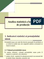 Analiza Statistica a Factorilor de Productie