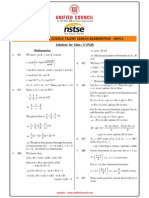 NSTSE 2015 Class 11 PCM Answer Key & Solution