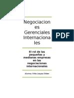 El Rol de Las Pequeñas y Medianas Empresas en Las Negociaciones Internacionales