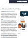 An Introduction to Stock Market Indexes