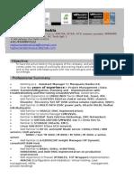 Raghu Nandan Shukla Unix Consultant Resume 1