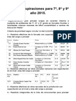 Ordenamiento 7º,8ºy9º Año 2015