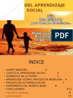 Teoría de Aprendizaje Social ALBERT BANDURA