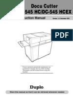 DC545HC Docucutter Instr