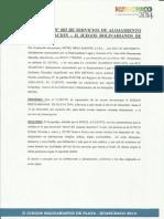 Contrato Bolivarianos Playa 2014