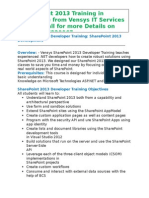 SharePoint2013 Training in Bangalore From Vensys IT Services Pvt. Ltd