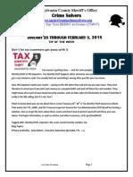 CSR 1-28 THRU 2-3-2015