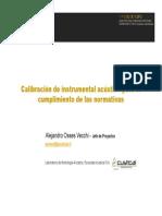2010 10 02 Calibracion de Instrumental Acustico Para El Cumplimiento de La Normativa