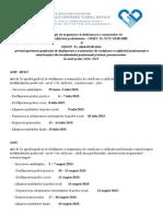Prelucrarea Metodologiei Examenului de Certificare
