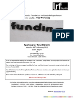 Small Grants Funding Workshop