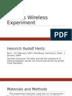 Hertz' Wireless Experiment