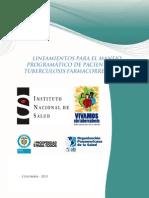 1.- Lineamientos Manejo de Tuberculosis Farmacorresistente