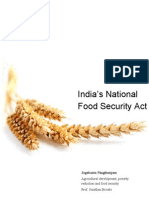 Policy Brief India Food Security Act