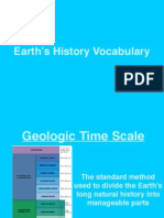 earth history vocabulary