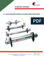 4.6B High Pressure Var. Vol. Sample Receivers