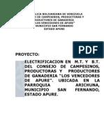 Proyecto Electrico Distribucion