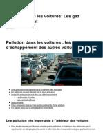 Pollution Dans Les Voitures Les Gaz d Echappement 3897 Kw6n16