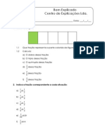 Multiplicação de números racionais não negativos - Ficha de Trabalho (1)