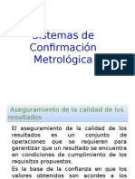 Sistemas de Confirmacion Metrologica