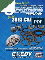 EXEDY Friction Technics Catalog Summer 2013web