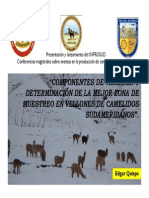Componentes de Varianza y Zona de Muestreo en Camelidos sudamericanos