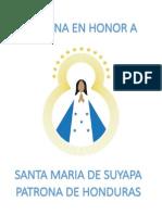 Novena en Honor a Nuestra Señora de Suyapa