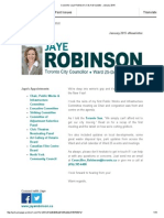 Councillor Jaye Robinson's City Hall Update - January 2015