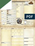 Iron Kingdoms Full Metal Fantasy Fillable Character Sheet