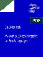 Presentation From Dahl of Simula