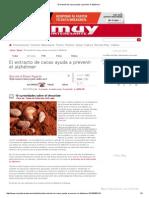 El Extracto de Cacao Ayuda a Prevenir El Alzhéimer