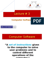 Computer Software (Lecture#3)