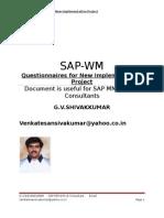 SAP Warehouse Management (WM) Questionnaires for New Implementation