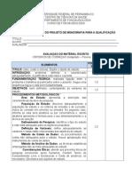 Ficha Avaliacao Projeto QUALIFICACAO