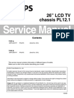 Philips 26pfl4507 Chassis Pl12.1 Service Manual