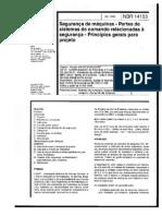 NBR 14153]-Segurança de Máquinas-Partes de Sistemas de Comando Relacionadas à Segurança-Princípios Gerais Para Projeto