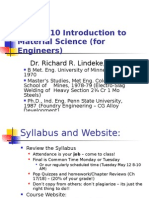 Introduction to Material Science --Ch1