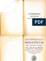 Antiphonale Monasticum Pro Diurnis Horis 1