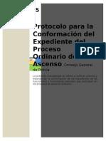 Protocolo Para La Conformacion Del Expediente Del Proceso Ordinario de Ascenso 2015